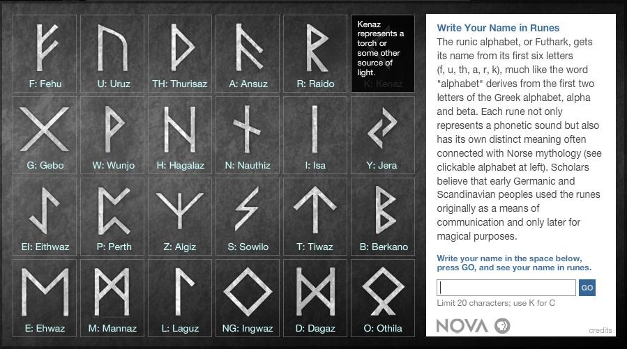 write name in runes