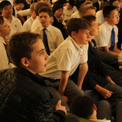 Grade 7s get up close and personal with Kenneth Oppel