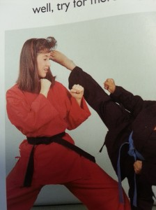 That is a roundhouse kick to the bangs. Five points.