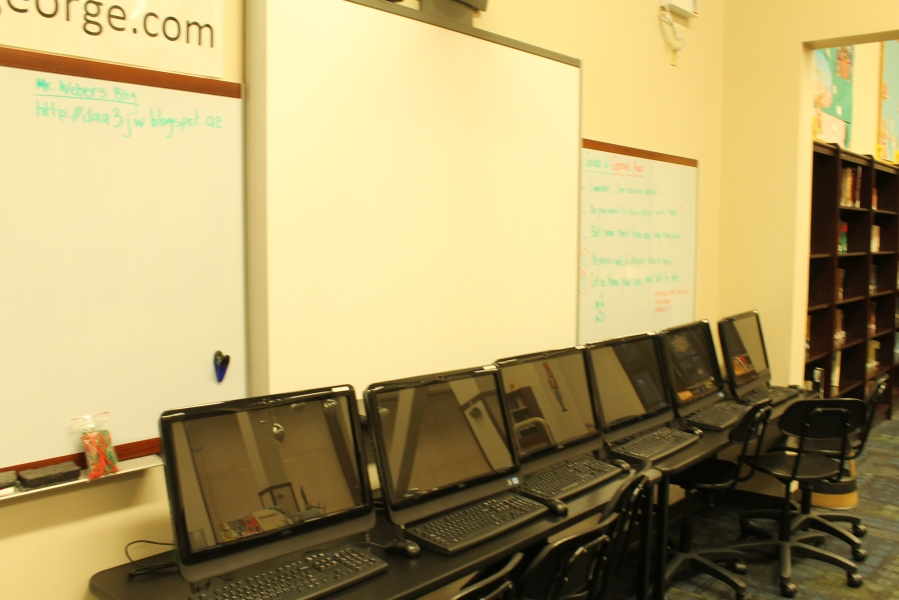 We integrated our Dell touchscreens into the new design with two smaller media stations.