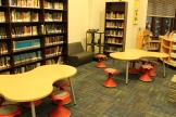 Wobble stools and puzzle tables for small group work.