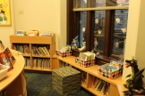 Our lovely new picture book shelving - custom made for the window nook.