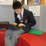 Peter is learning to code with Tynker