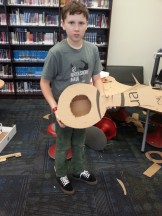 Daniel made a working guitar!