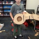 Daniel made a working guitar!