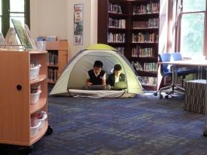 It's also a perfect spot to camp out and work on Genius Hour!